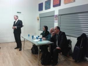 Barry Gardiner, MP, Catherine West, MP, Norman Beddington, eco householder, and Cllr Andrew Cooper of Kirklees